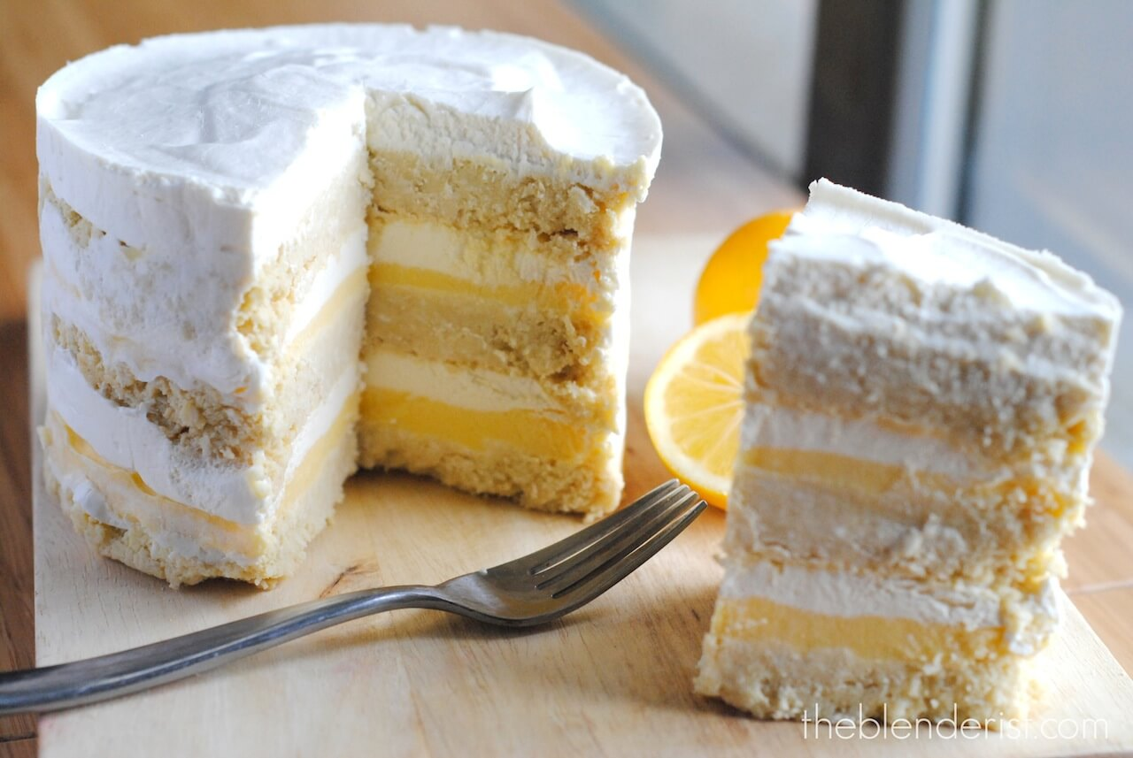 Gluten Free Lemon Cake With Lemon Curd Filling