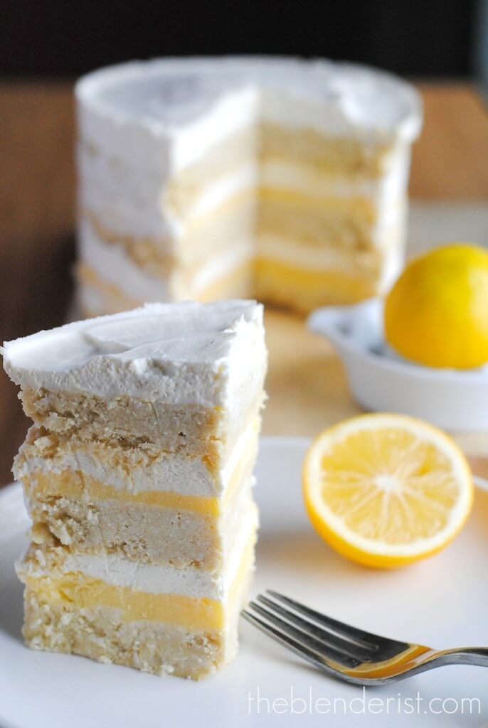 ! This is eight layers of magic right here. Coconut cake, lemon curd ...
