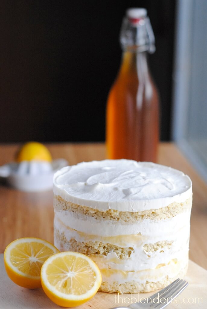 Coconut Lemon Layer Cake -Gluten-Free and Sugar-Free - Blending Food ...