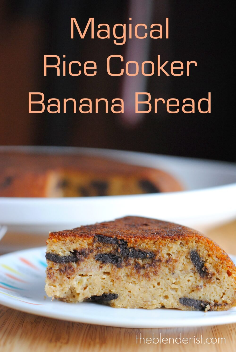 Gluten Free Banana Bread Cake Made In The Rice Cooker Black