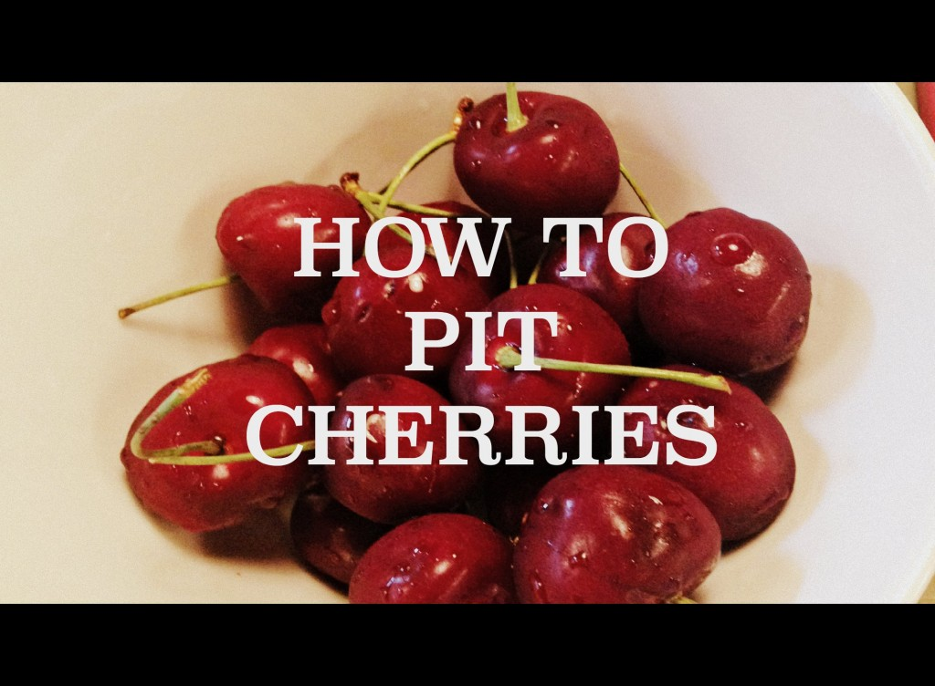 how-to-pit-cherries