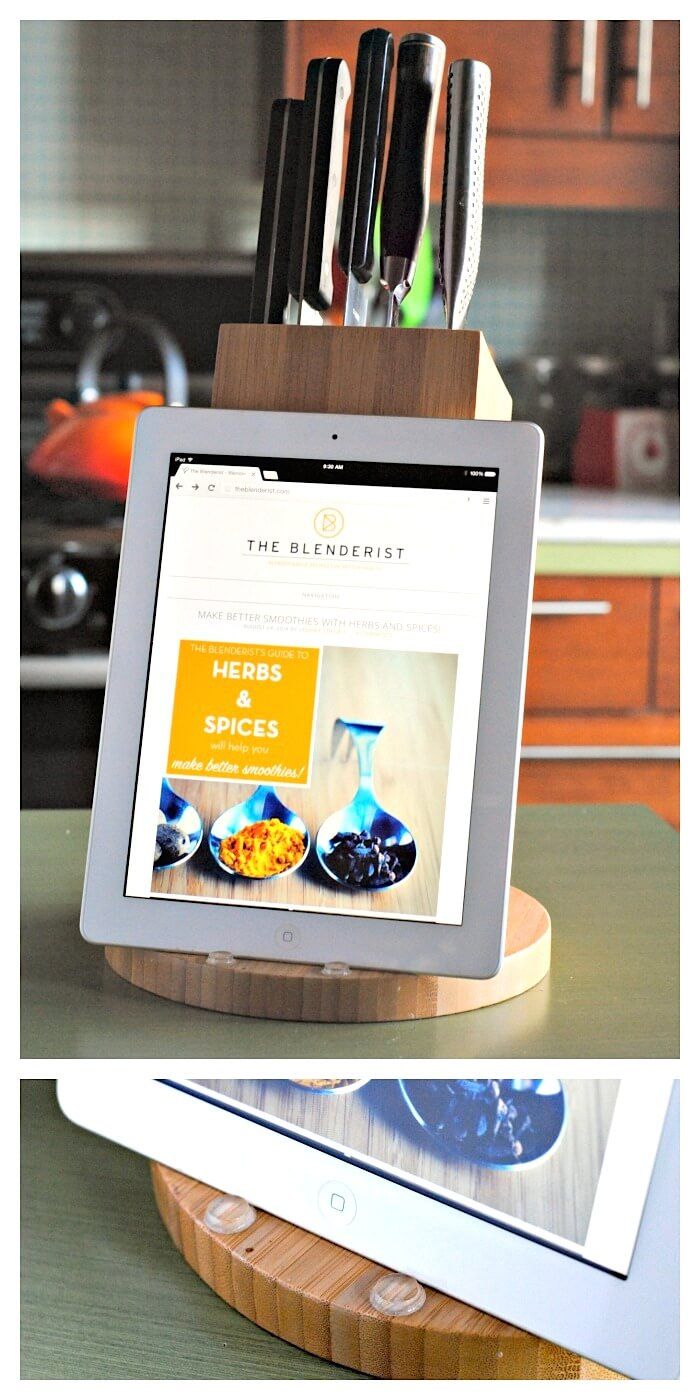 DIY-knife-block-ipad-stand