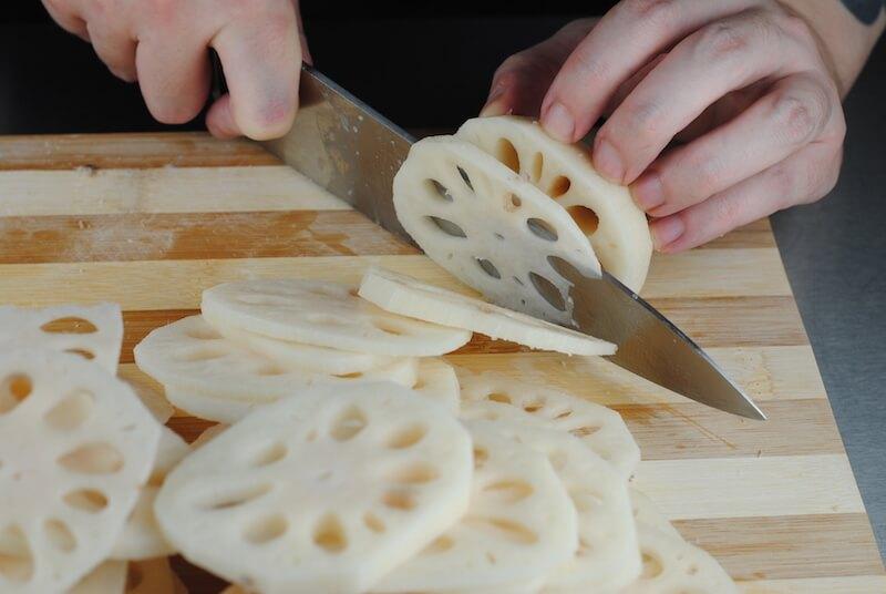 Cutting-Lotus-Root-