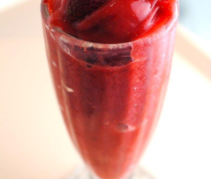Strawberry-mint-sorbet