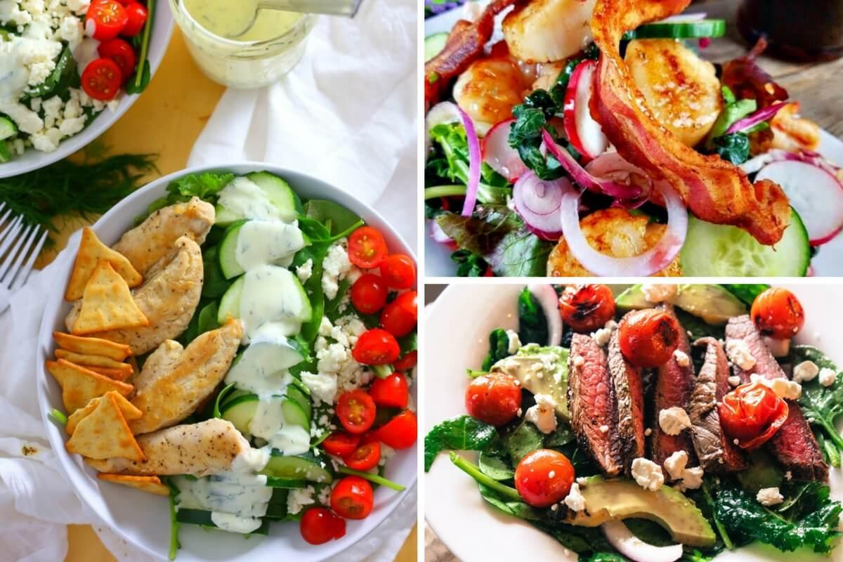 Black-food-bloggers-loaded-salads