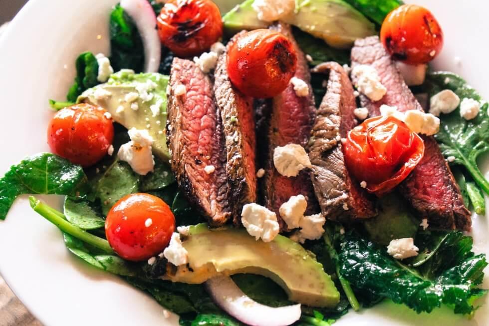 bison-steak-salad
