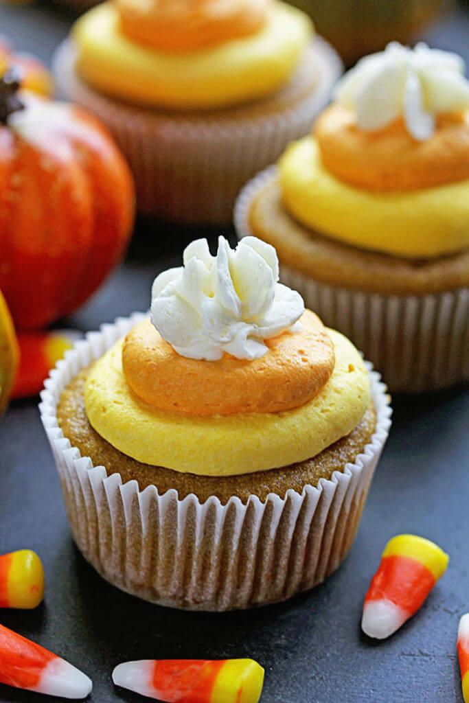 Candy-Corn-Cupcakes