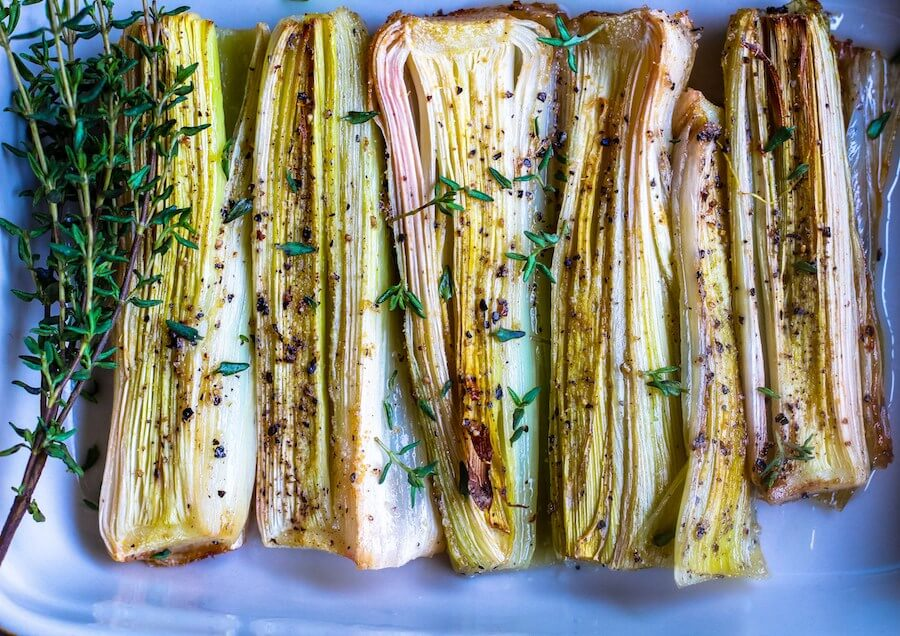 vegan-thanksgiving-roasted-leeks