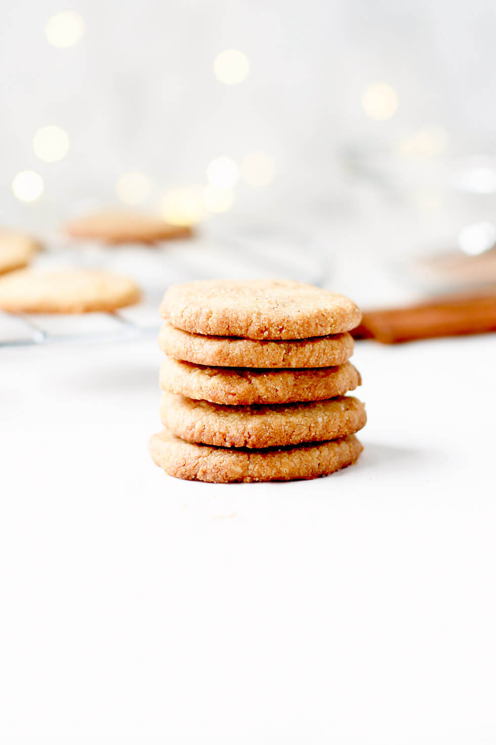 Gluten Free Shortbread cookies in a stack