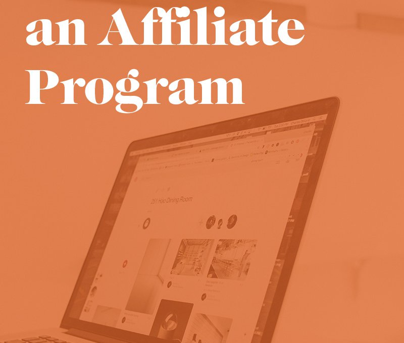 Graphic that says How to start and affiliate program.